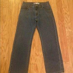 Boys Levi's 505 straight leg jeans size 14